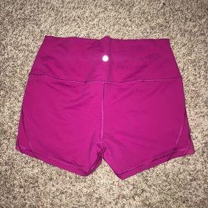 Lululemon Pink High Rise Shorts